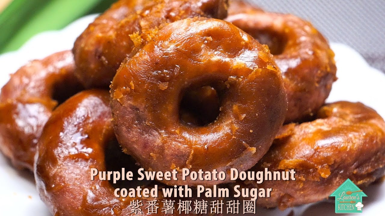 """Kuih Keria"" Gula Melaka - Purple Sweet Potato Doughnut ..."