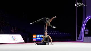 Upcott, Tate - SILVER - Men's Pair Balance Final - 2019 Acrobatic European Championships