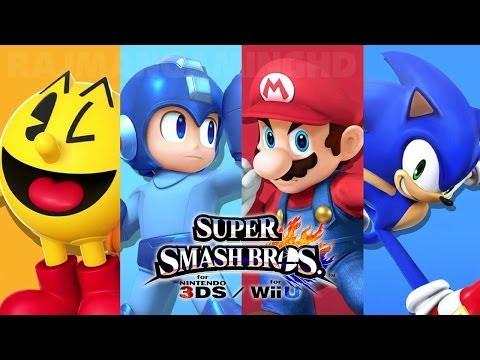 Super Smash Bros Wii U - Pac-Man vs Mega Man vs Mario vs Sonic Gameplay [1080p] TRUE-HD QUALITY