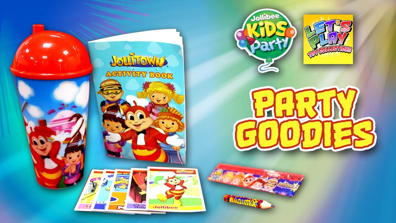 Jollibee Kids Party Jollitown Loot Bag Goodies Youtube