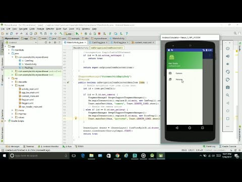 Navigation Drawer side menu Activity ANDROID STUDIO
