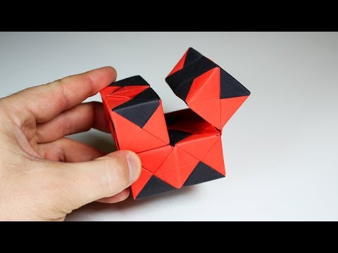 HOW TO MAKE AN INFINITY FIDGET CUBE ORIGAMI