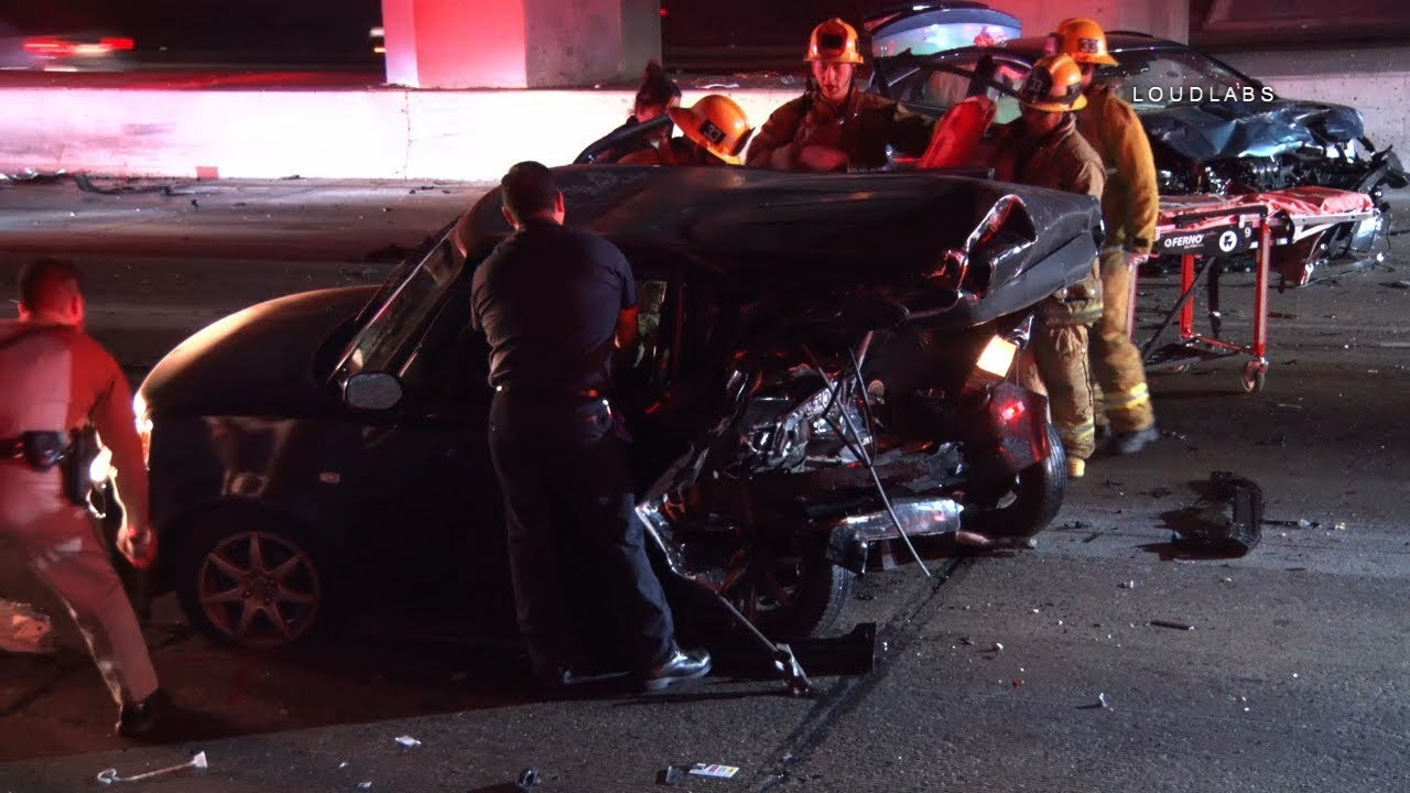 110 Double Fatal Crash / South LA RAW FOOTAGE