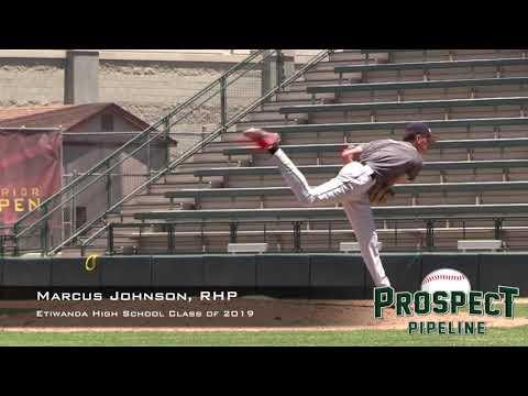 Marcus Johnson Prospect Video, RHP, Etiwanda High School Class of 2019, Side Angle