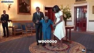 106 year old woman meets President Obama