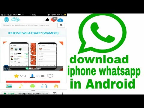 Download iphone whatsapp in your android mobile!! By osm technical