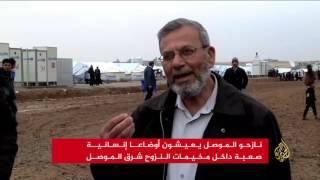 نازحو الموصل يعيشون أوضاعا إنسانية صعبة
