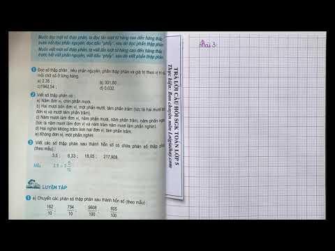 Giải bài 3 trang 38 SGK Toán 5