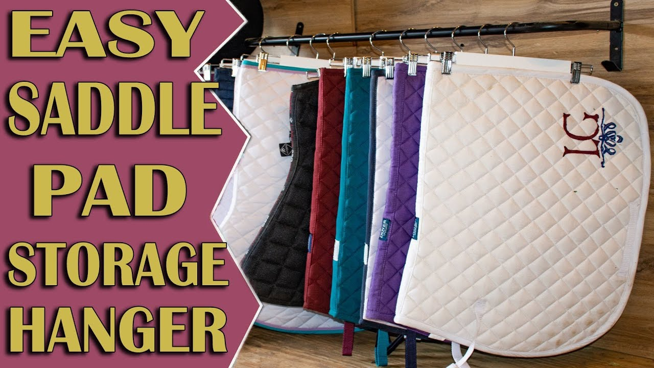 how to store saddle pads more efficiently so easy