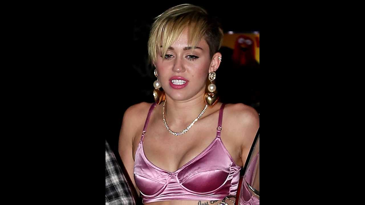 Sexy miley cirus bra