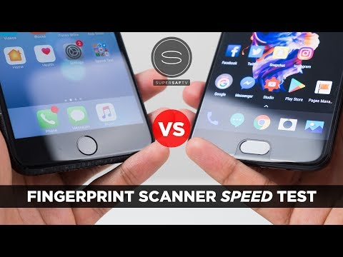 OnePlus 5 vs iPhone 7 Plus - Fingerprint Scanner Speed Test