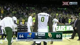 Kansas vs Baylor Men's Basketball Highlights