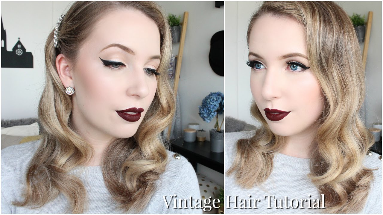 hollywood style hair glam vintage waves easy hair tutorial 6322 | maxresdefault