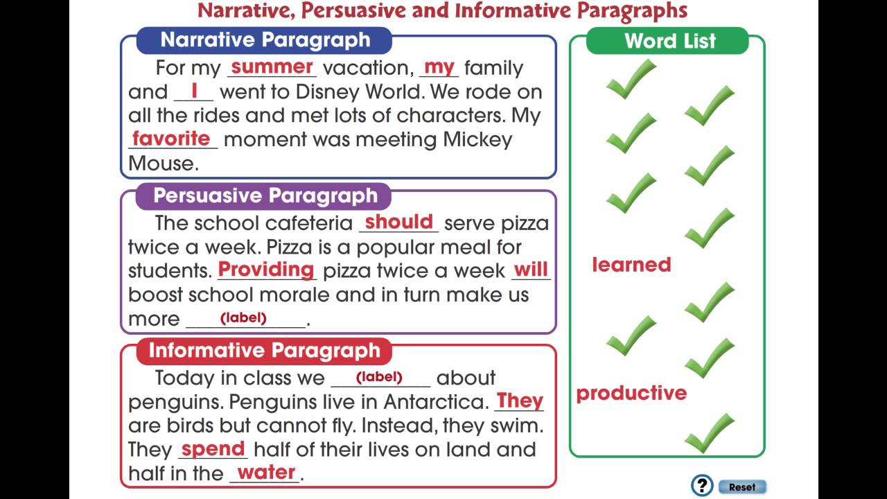 cc how to write a paragraph narrative persuasive and cc7104 how to write a paragraph narrative persuasive and informative paragraphs mini