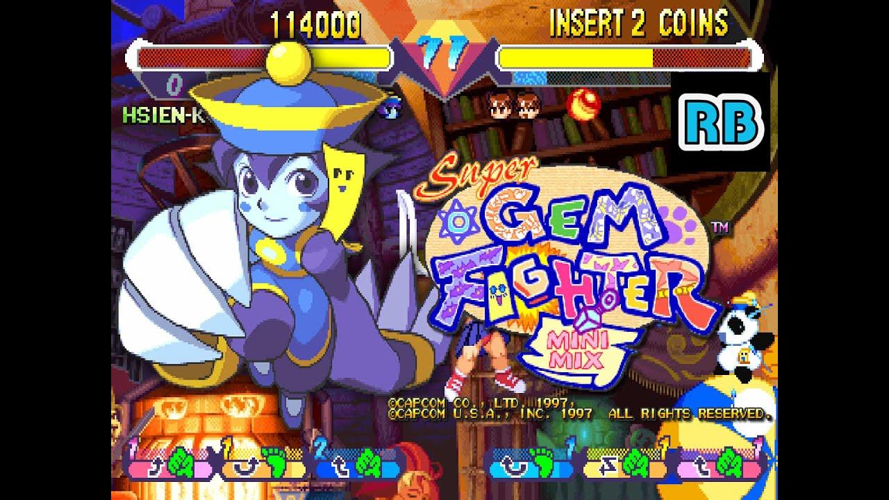 1997 [60fps] Super Gem Fighter Mini Mix (USA) Hsien-Ko Expert ALL
