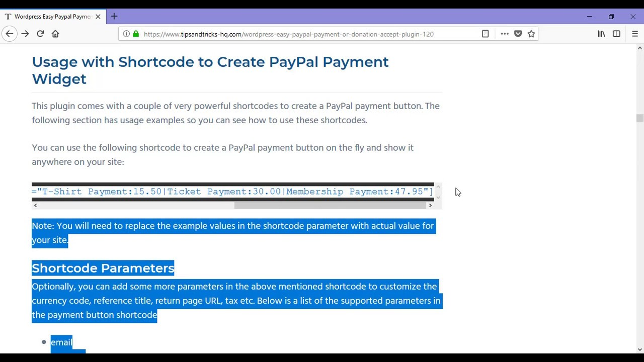a7c2d667bfe WordPress Paypal Payment Accept Plugin Tutorial Part 2
