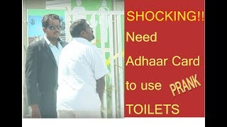 Shocking! Aadhar Card to use Public  Toilets too... | Prank | Chennai Pasanga