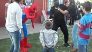 Hombre Araña en el cumple de Benja