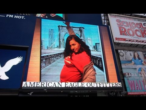 ON A BILLBOARD IN TIMES SQUARE!!