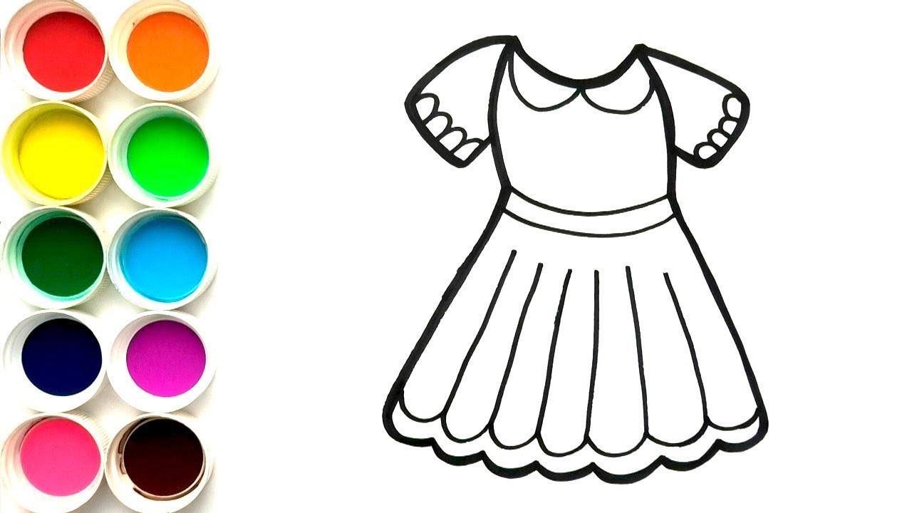 Dibuja Y Colorea Vestido Para Niñas Aprende Colores Learn Colors For Childrens Funkeep