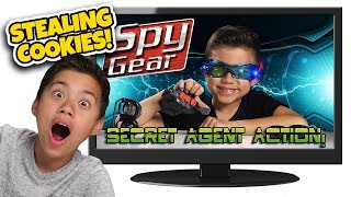 KID USES TOYS TO STEAL COOKIES!!! Kids React to Spy Gear! Top 10 Reacting to Old Videos #8