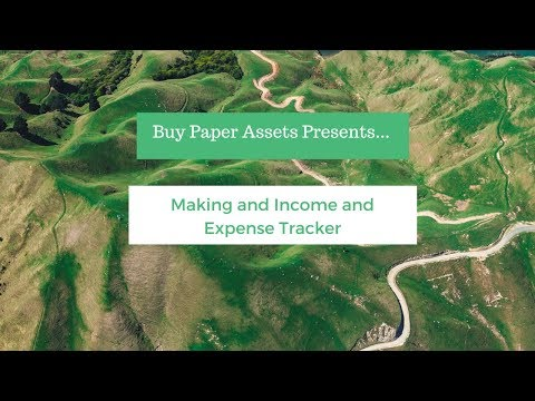 Making and Income and Expense Tracker for your Note Investing Business