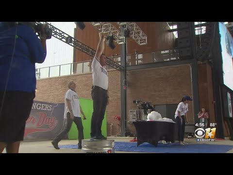 CBS 11 Meteorologists Entertain, Educate At Rangers Weather Day At Texas Live