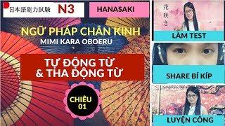 Download Video JLPT N3_Ngữ Pháp Chân Kinh_Chiêu 1 Tự động từ và tha động từ_Mimi kara oboeru MP3 3GP MP4