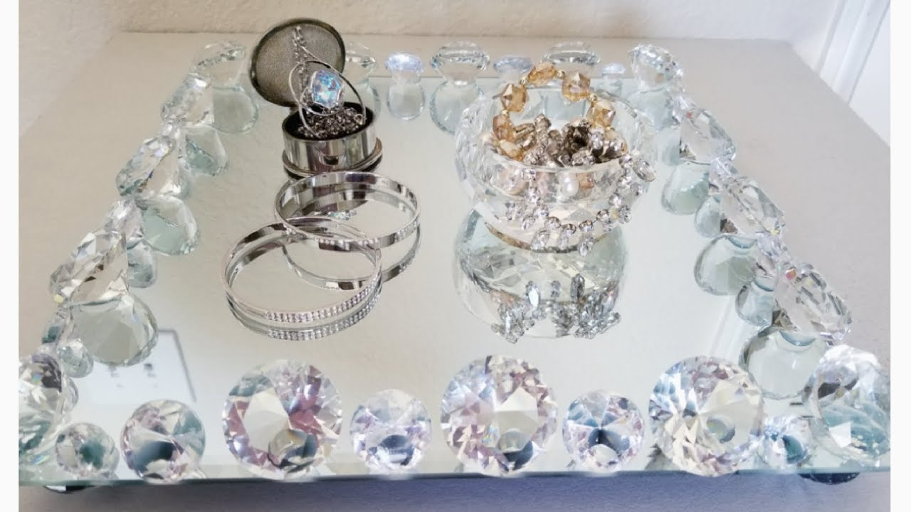 Crystal And Mirror Vanity Tray Home Goods Inspired 2018