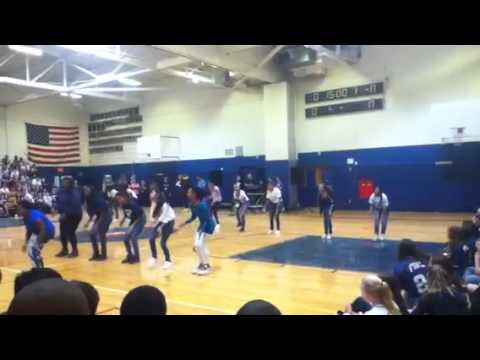 Finley Middle School Step Team. Pep Rally- 10/12/12