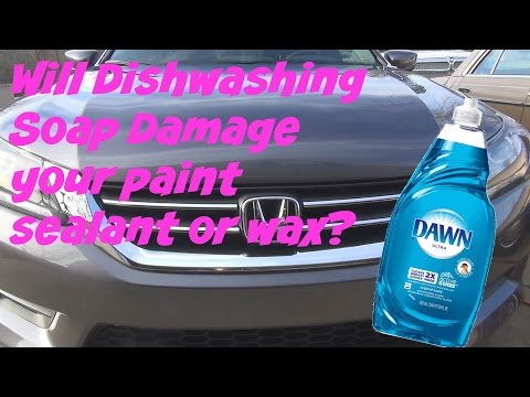 Will using Dish Washing soap damage your cars wax or sealant protection?