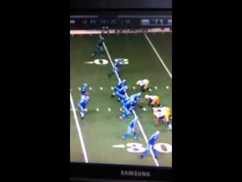 Jon Kitna 2 interception touchdowns vs packers