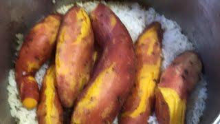 고구마밥과 감자탕