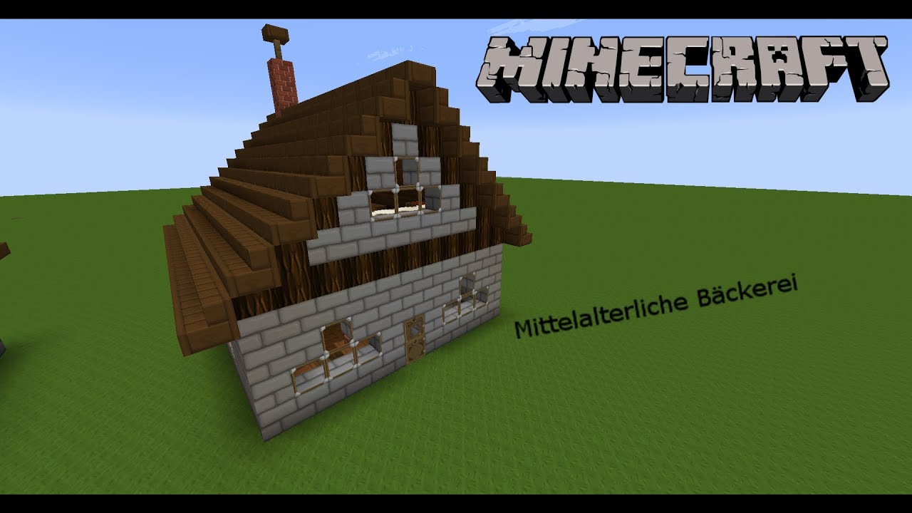 minecraft tutorial mittelalterliche b ckerei bauen youtube. Black Bedroom Furniture Sets. Home Design Ideas