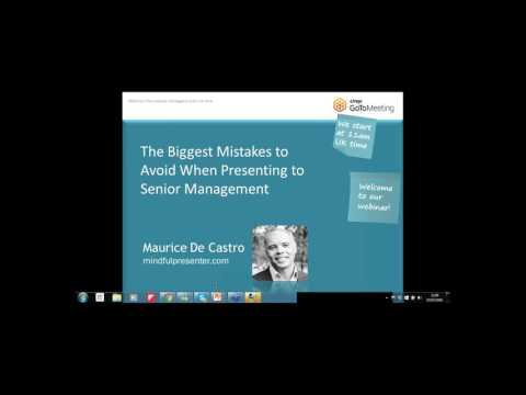 The Biggest Mistakes to Avoid When Presenting  to Senior Management