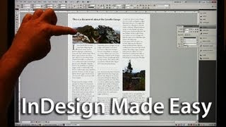 Adobe InDesign Easy Start - Lesson 1 - Text, Photos, Formatting, Colors