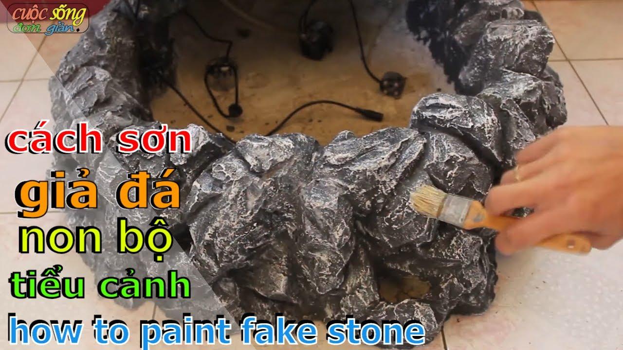 how to paint the fake waterfall - hướng dẫn (cách sơn giả đá non bộ ) đơn giản nhất