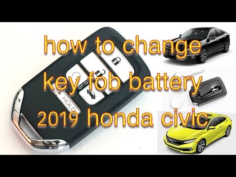 How To Replace Key Fob Battery in 2019 Honda Civic