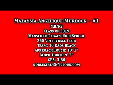 Malaysia Murdock - Class of 2019 - MB/RS Mansfield Legacy High School