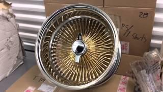 Gold 100 spoke knock offs and vogue tires