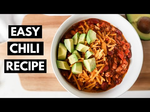 EASY CHILI RECIPE | The Best Turkey Chili | One-Pot Meal