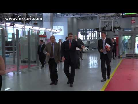 Texas Governor Rick Perry in Maranello