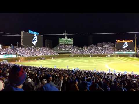 Cubs win and Go Cubs Go after game 5 of the 2016 World Series