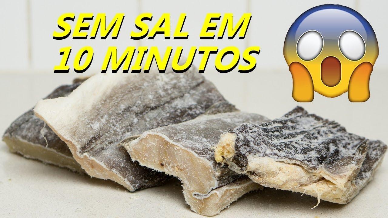 COMO TIRAR SAL DE BACALHAU EM 10 MINUTOS REVELEI O SEGREDO