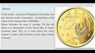 10 20 50 euro cent 1999 Spain My collection coin Juan Carlos I