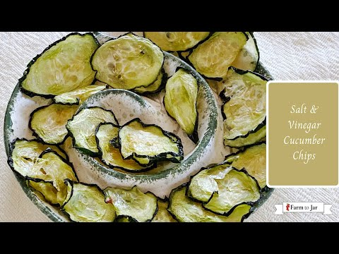 How to make Salt & Vinegar Cucumber Chips - Dehydrator or oven-baked