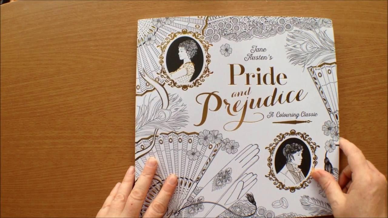 Jane Austens Pride And Prejudice A Colouring Classic Book Flipthrough