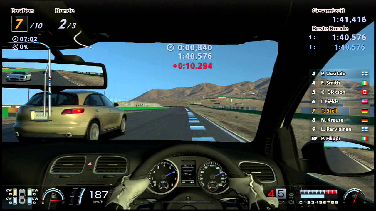 gran turismo 6 ps3 vw golf 6 r 10 gameplay willow springs usa 20131210 1935 youtube. Black Bedroom Furniture Sets. Home Design Ideas