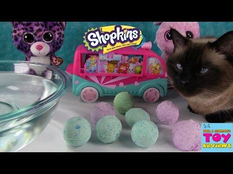 Surprise Bath Bombs Fizzies | LPS Shopkins Hidden Toys | PSToyReviews