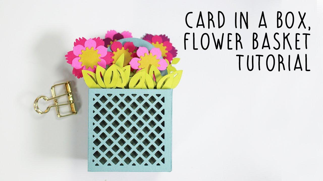 3D Origami basket with flowers tutorial | DIY Paper Craft Basket ... | 720x1280